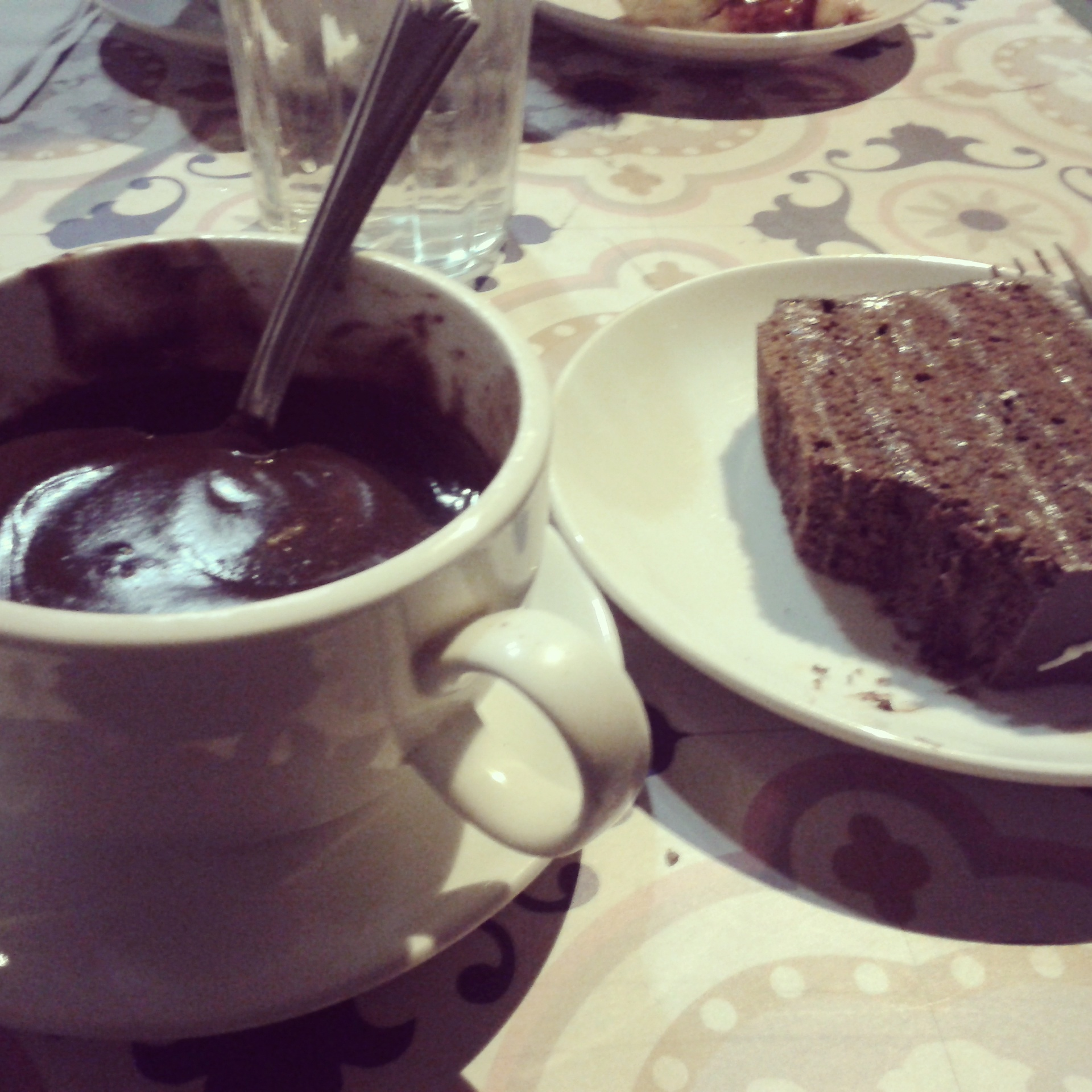 Chocolate del Bistro. En la foto ya no queda crema n_n