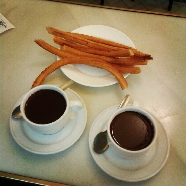 El chocolate con churros de San Ginés